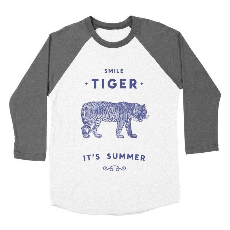 Smile Tiger Men's Baseball Triblend T-Shirt by Speakerine / Florent Bodart