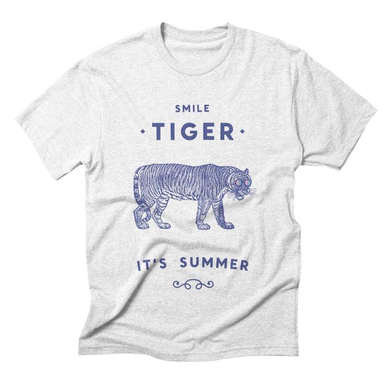Smile Tiger Men's Triblend T-shirt by Speakerine / Florent Bodart