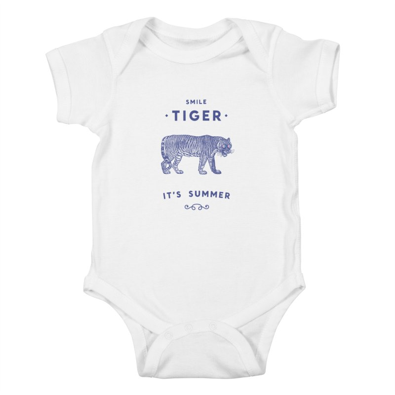 Smile Tiger Kids Baby Bodysuit by Speakerine / Florent Bodart