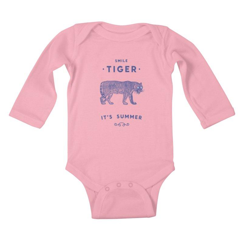 Smile Tiger Kids Baby Longsleeve Bodysuit by Speakerine / Florent Bodart