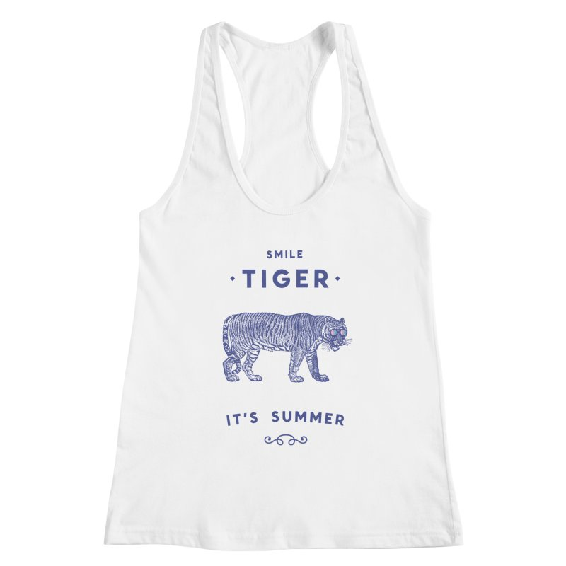 Smile Tiger Women's Racerback Tank by Speakerine / Florent Bodart
