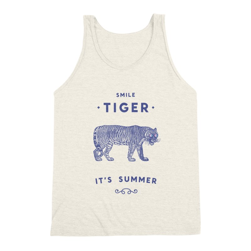 Smile Tiger Men's Triblend Tank by Speakerine / Florent Bodart