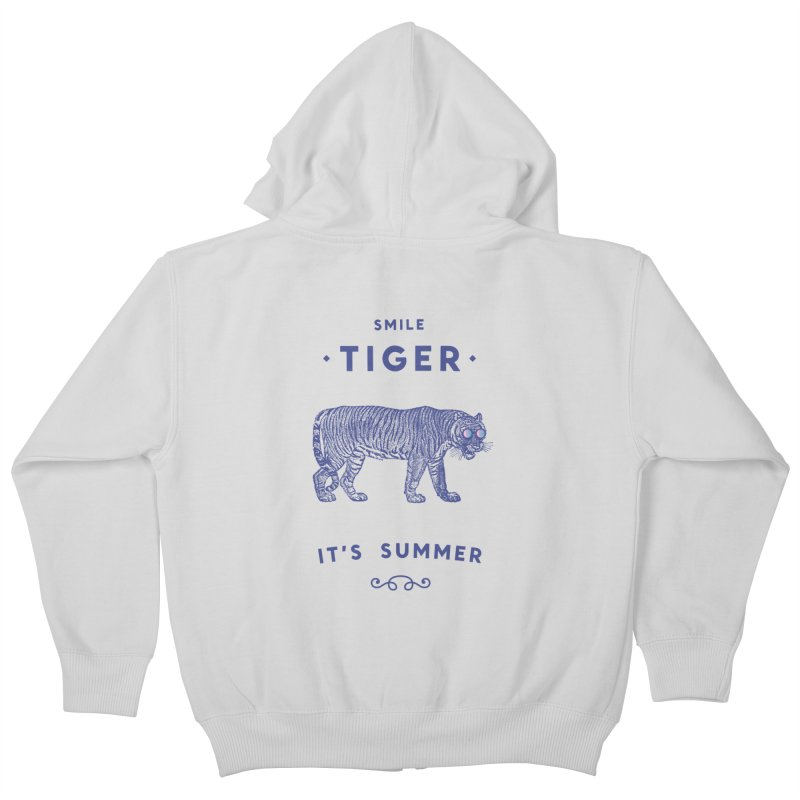 Smile Tiger Kids Zip-Up Hoody by Speakerine / Florent Bodart