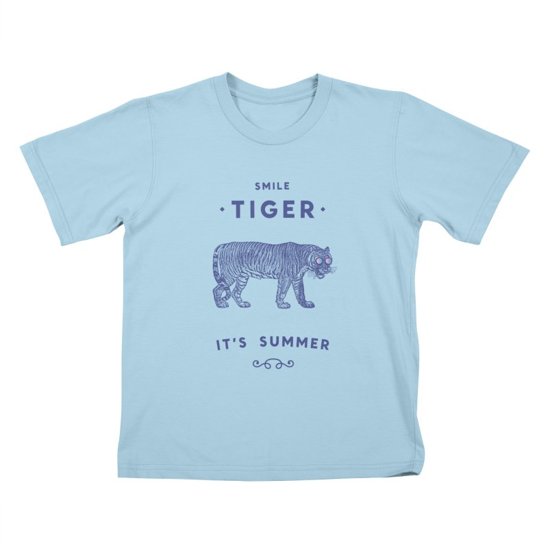 Smile Tiger Kids T-Shirt by Speakerine / Florent Bodart