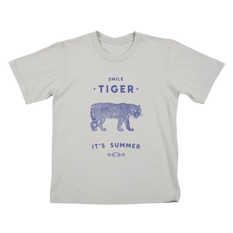Smile Tiger Kids T-shirt by Speakerine / Florent Bodart