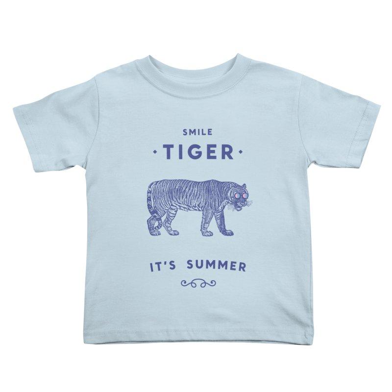Smile Tiger Kids Toddler T-Shirt by Speakerine / Florent Bodart