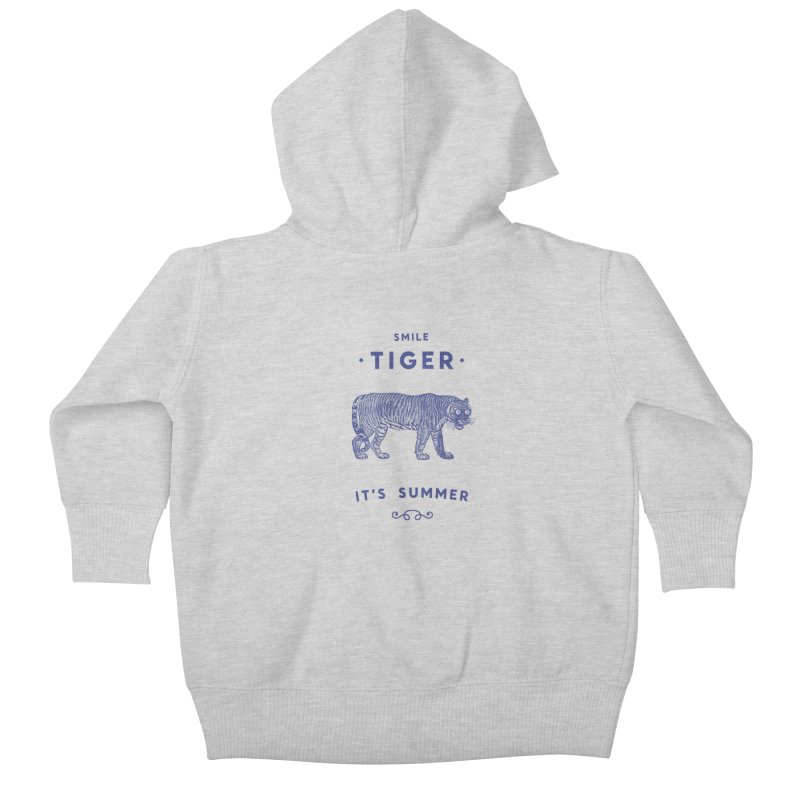 Smile Tiger Kids Baby Zip-Up Hoody by Speakerine / Florent Bodart