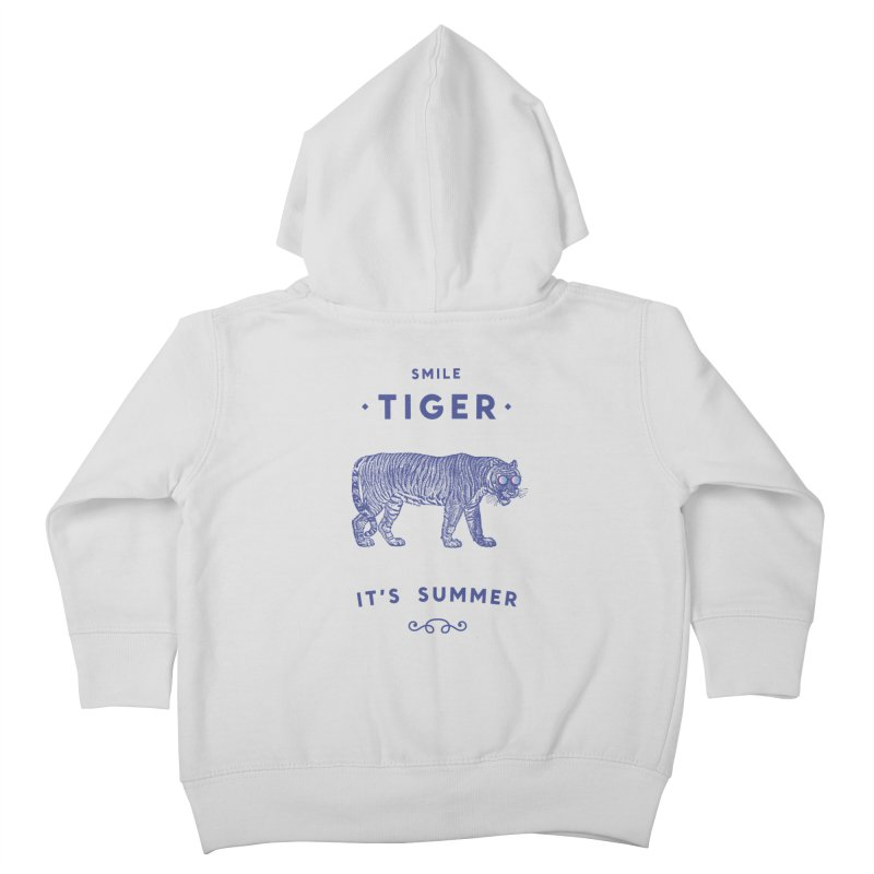 Smile Tiger Kids Toddler Zip-Up Hoody by Speakerine / Florent Bodart