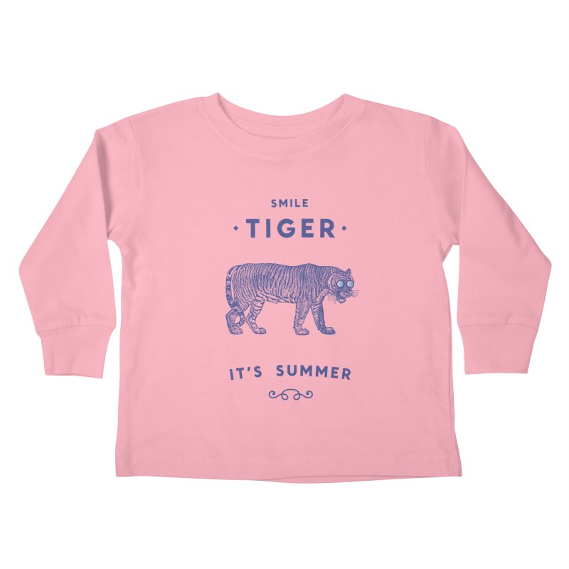 Smile Tiger Kids Toddler Longsleeve T-Shirt by Speakerine / Florent Bodart