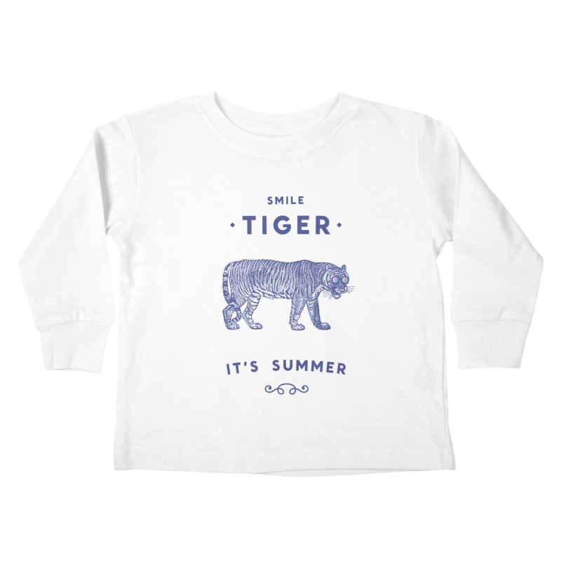 Smile Tiger Kids Toddler Longsleeve T-Shirt by Speakerine / Florent Bodart