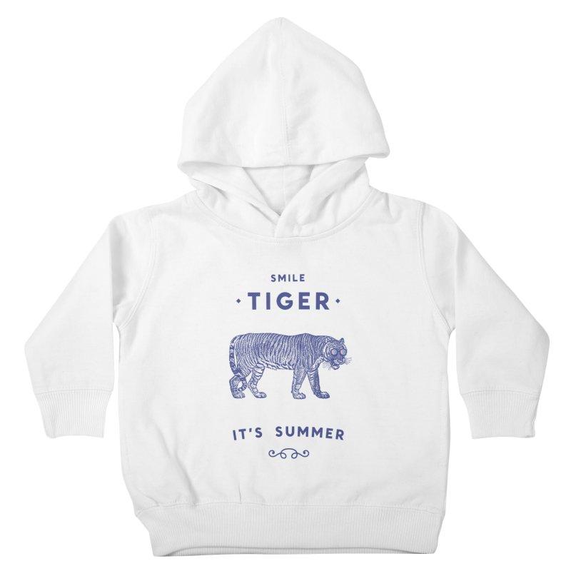 Smile Tiger Kids Toddler Pullover Hoody by Speakerine / Florent Bodart