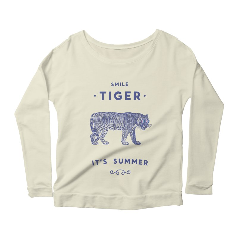 Smile Tiger Women's Scoop Neck Longsleeve T-Shirt by Speakerine / Florent Bodart