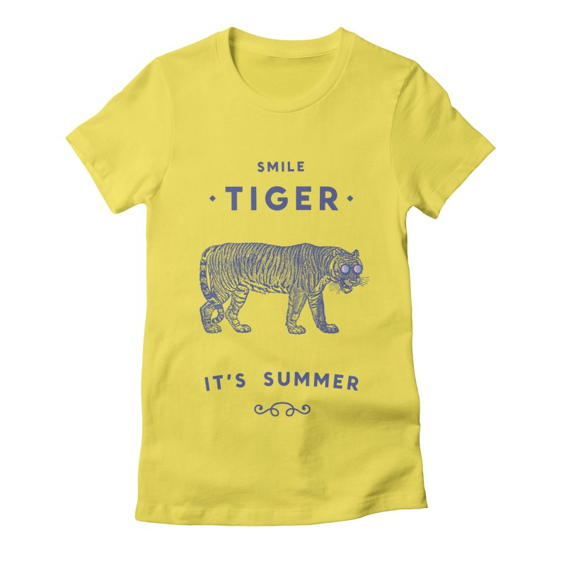 Smile Tiger Women's T-Shirt by Speakerine / Florent Bodart