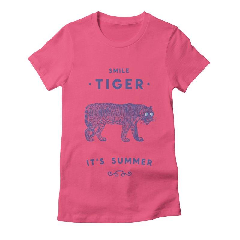 Smile Tiger Women's T-Shirt by Speakerine / Florent Bodart