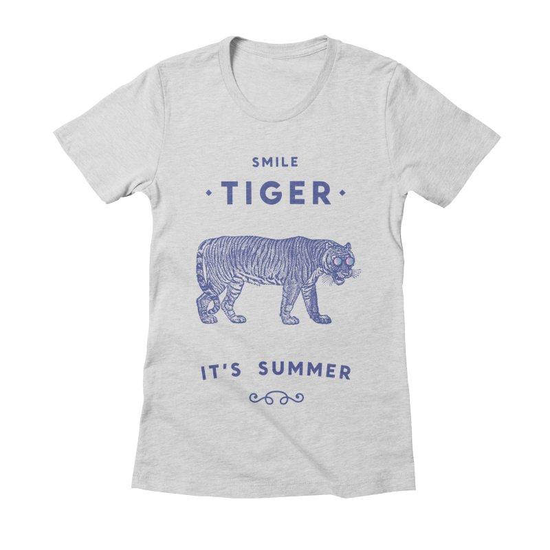Smile Tiger Women's Fitted T-Shirt by Speakerine / Florent Bodart