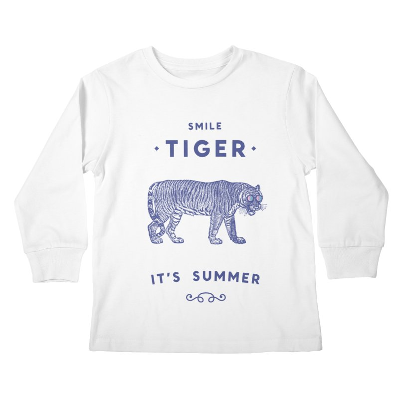 Smile Tiger Kids Longsleeve T-Shirt by Speakerine / Florent Bodart