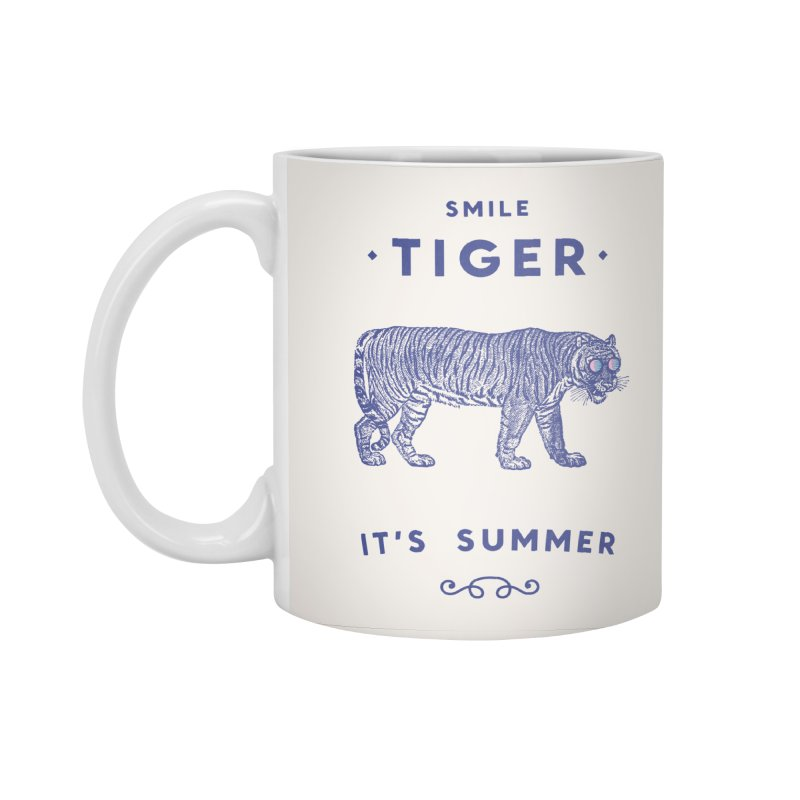 Smile Tiger in Standard Mug White by Speakerine / Florent Bodart