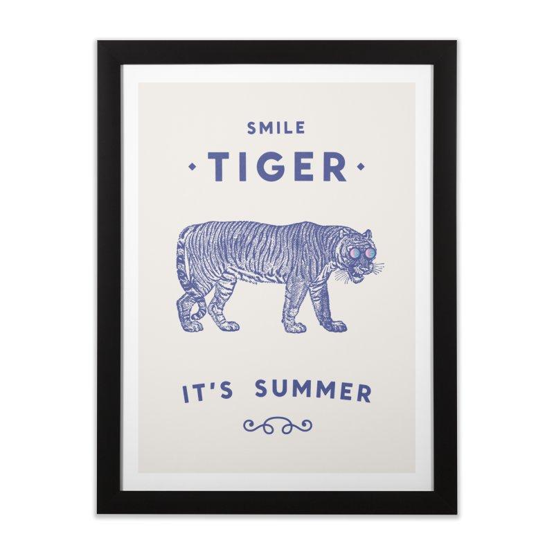 Smile Tiger Home Framed Fine Art Print by Speakerine / Florent Bodart
