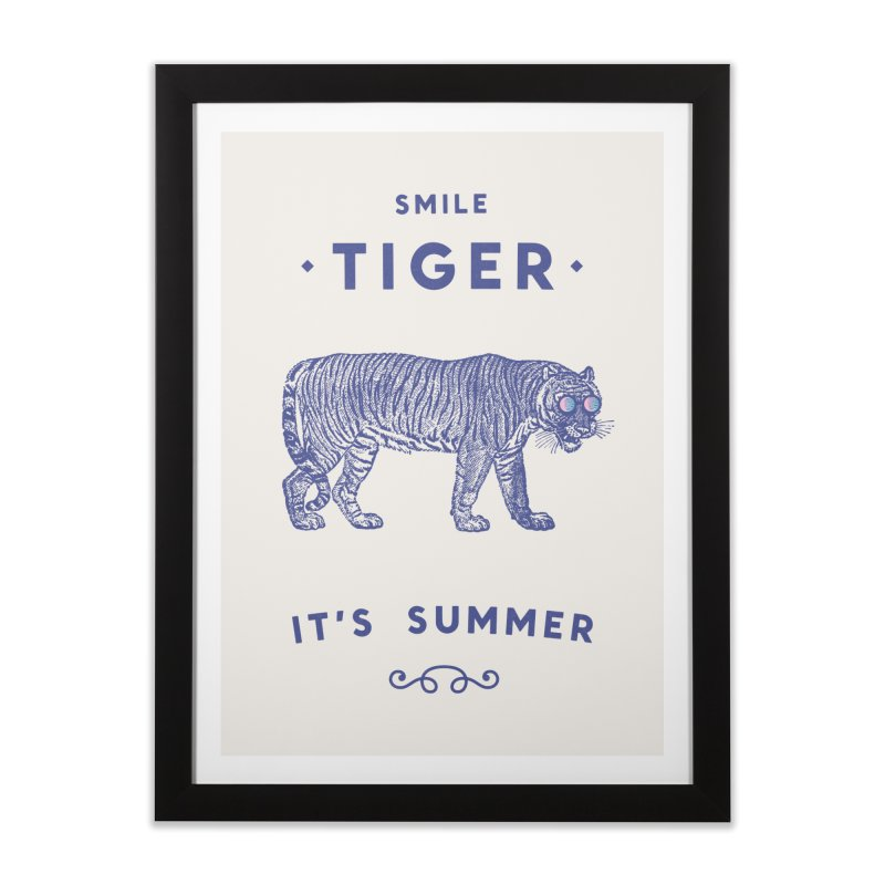 Smile Tiger Home Framed Fine Art Print by Speakerine / Florent Bodart