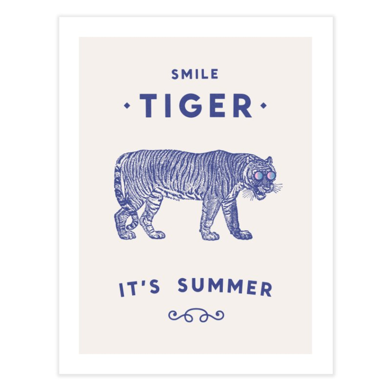 Smile Tiger Home Fine Art Print by Speakerine / Florent Bodart