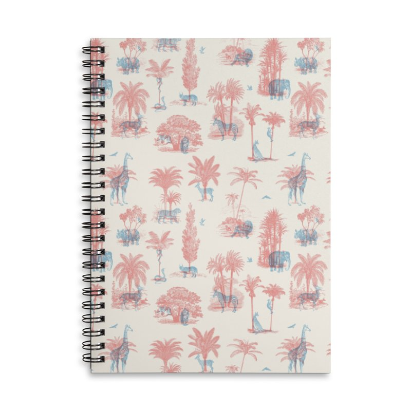 Where they Belong - Summer Accessories Lined Spiral Notebook by Speakerine / Florent Bodart
