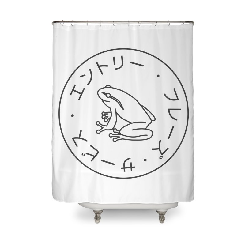 Frog Society Home Shower Curtain by Speakerine / Florent Bodart