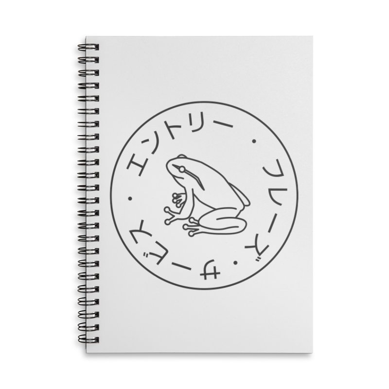 Frog Society Accessories Lined Spiral Notebook by Speakerine / Florent Bodart