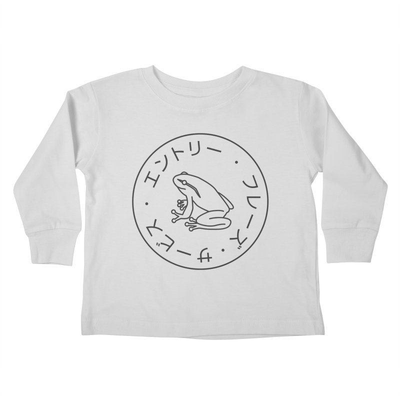 Frog Society Kids Toddler Longsleeve T-Shirt by Speakerine / Florent Bodart