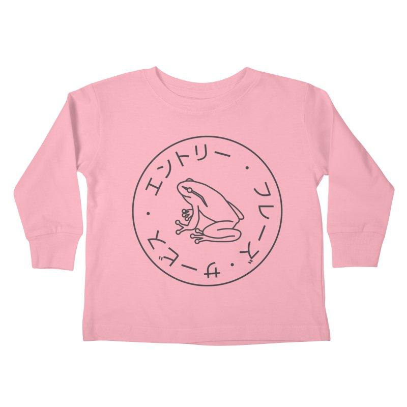 Frog Society Kids Toddler Longsleeve T-Shirt by Speakerine / Florent Bodart