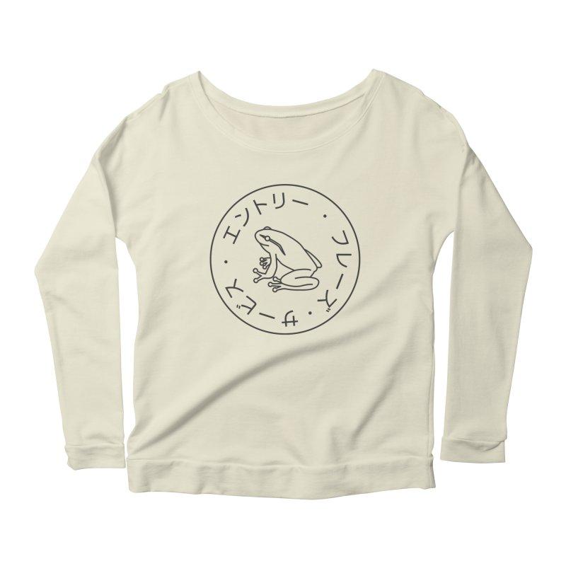 Frog Society Women's Scoop Neck Longsleeve T-Shirt by Speakerine / Florent Bodart
