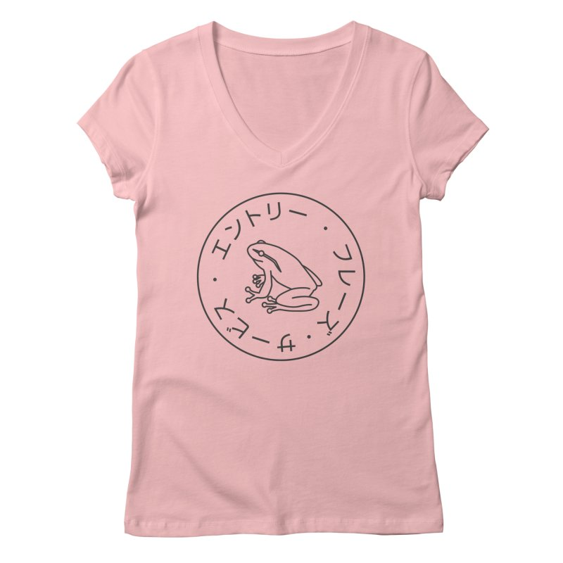 Frog Society Women's V-Neck by Speakerine / Florent Bodart