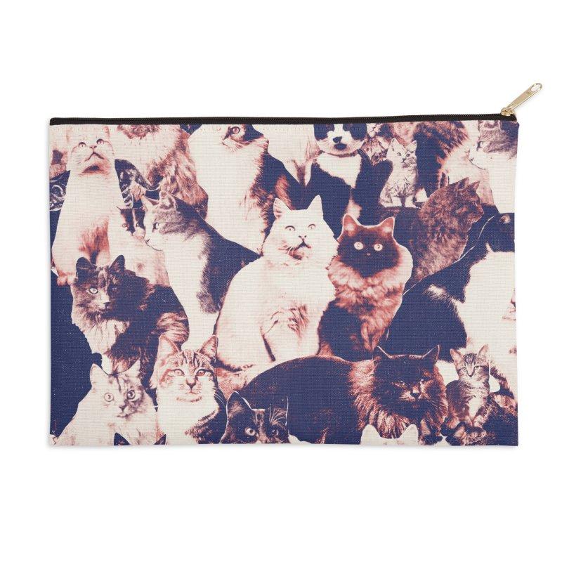 Cats Forever Accessories Zip Pouch by Speakerine / Florent Bodart