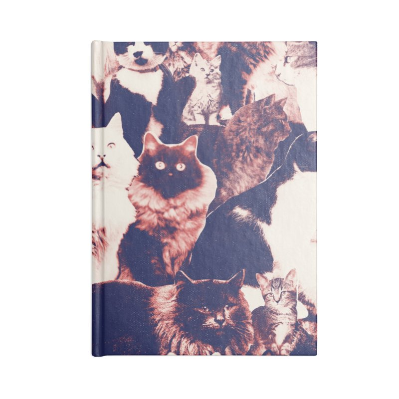 Cats Forever Accessories Lined Journal Notebook by Speakerine / Florent Bodart