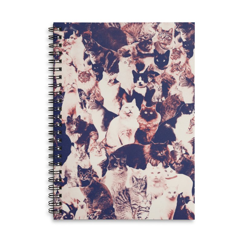 Cats Forever Accessories Lined Spiral Notebook by Speakerine / Florent Bodart
