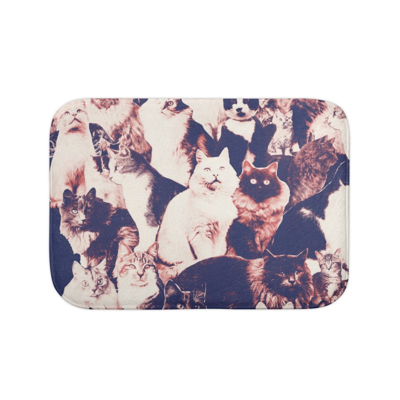Cats Forever Home Bath Mat by Speakerine / Florent Bodart