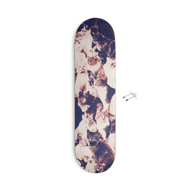 Cats Forever Accessories With Hanging Hardware Skateboard by Speakerine / Florent Bodart