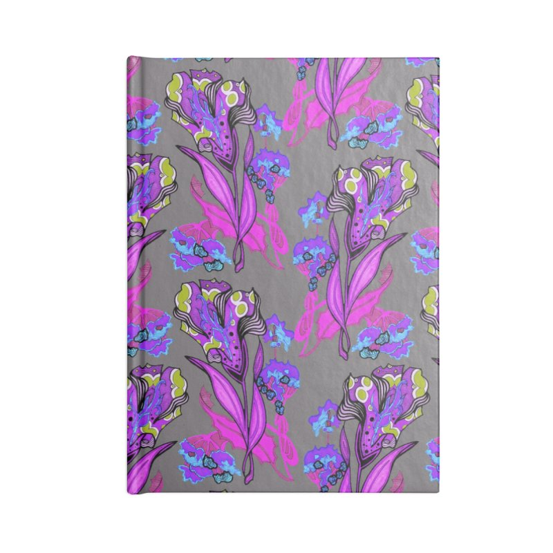 Spearlife Floral Textile Purple Pink and Grey Accessories Notebook by Spearlife Store - Original Art from Me to You