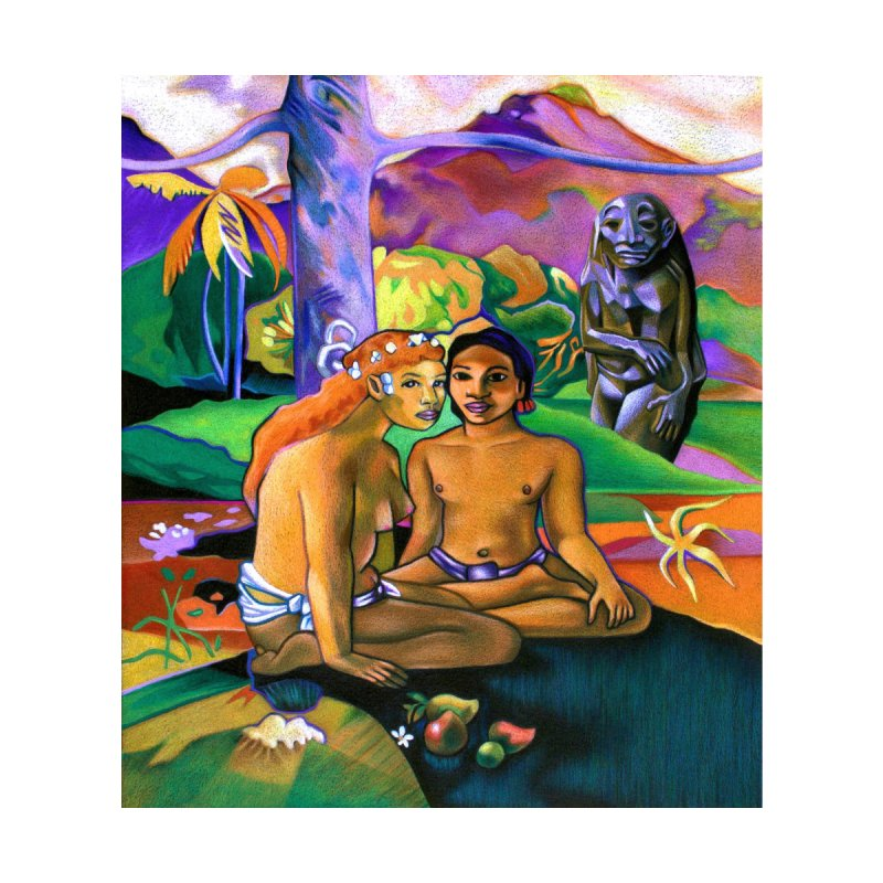 The Death of Gauguin - Artwork inspired by Paul Gauguin Women's T-Shirt by Spearlife Store - Original Art from Me to You