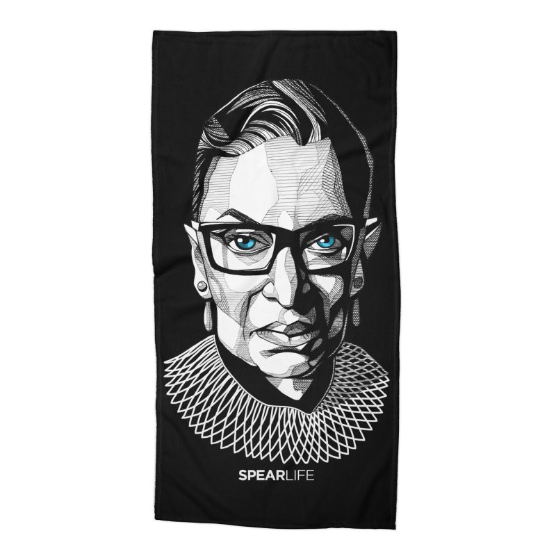 Tribute to RBG Accessories Beach Towel by Spearlife Store - Original Art from Me to You