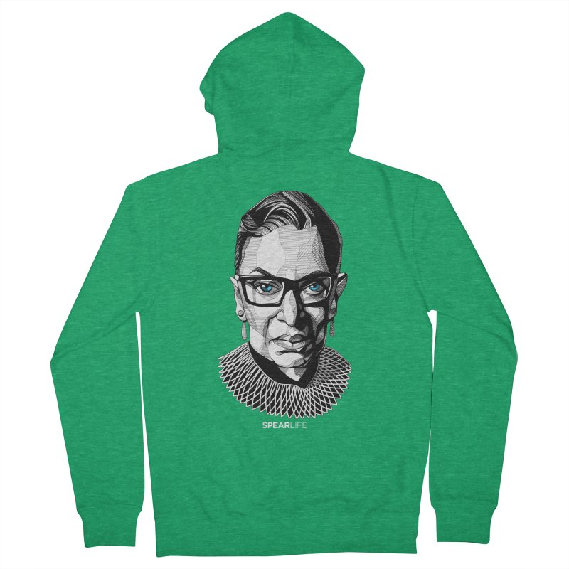 Tribute to RBG Women's Zip-Up Hoody by Spearlife Store - Original Art from Me to You
