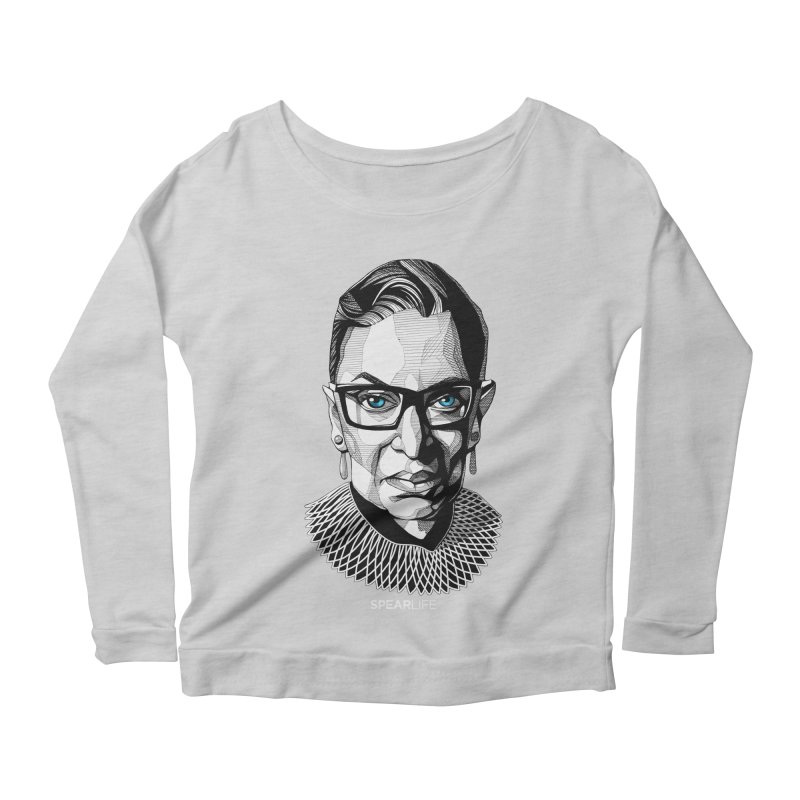 Tribute to RBG Women's Longsleeve T-Shirt by Spearlife Store - Original Art from Me to You