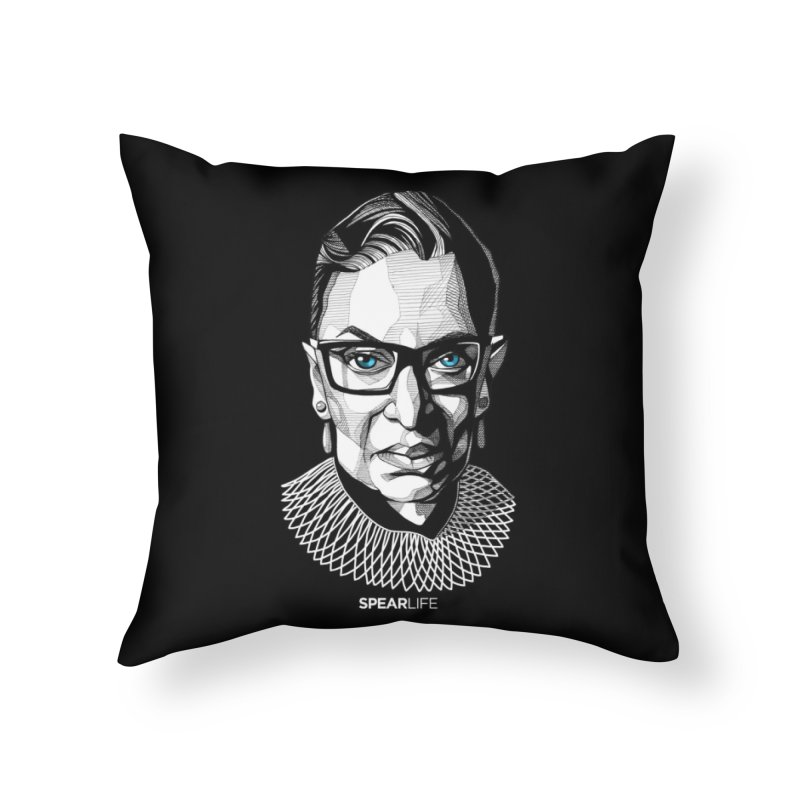 Tribute to RBG Home Throw Pillow by Spearlife Store - Original Art from Me to You