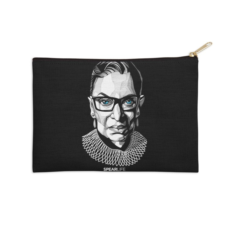 Tribute to RBG Accessories Zip Pouch by Spearlife Store - Original Art from Me to You