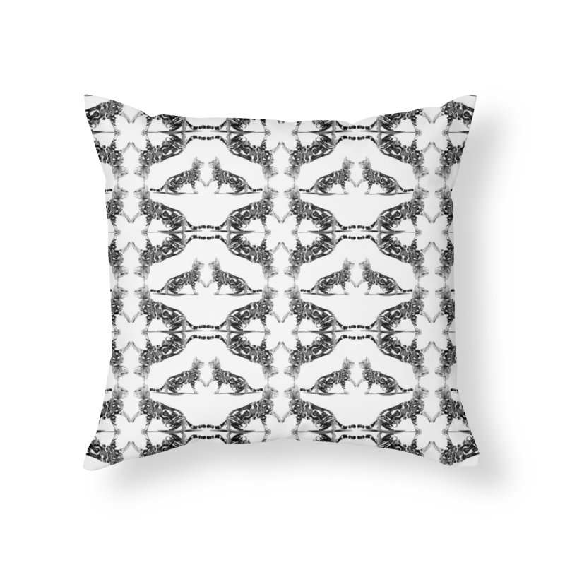 Catter Pattern Home Throw Pillow by Spearlife Store - Original Art from Me to You