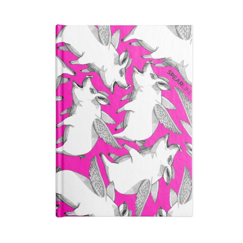Pigs Can Fly !!! Accessories Notebook by Spearlife Store - Original Art from Me to You