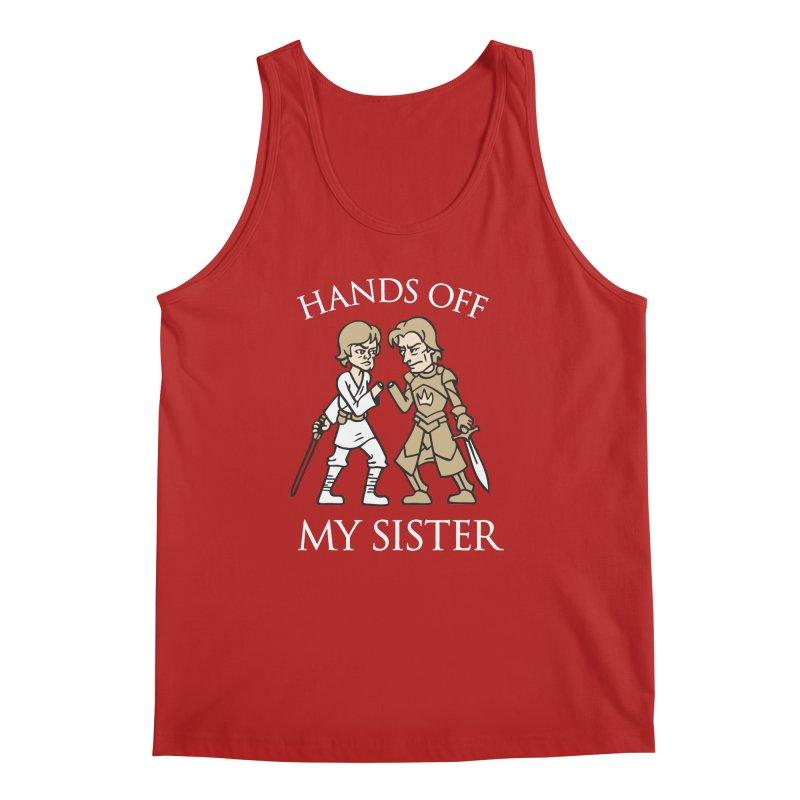 Hands Off My Sister Men's Tank by Spencer Fruhling's Artist Shop