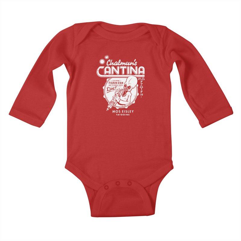 Chalmun's Cantina Kids Baby Longsleeve Bodysuit by Spencer Fruhling's Artist Shop