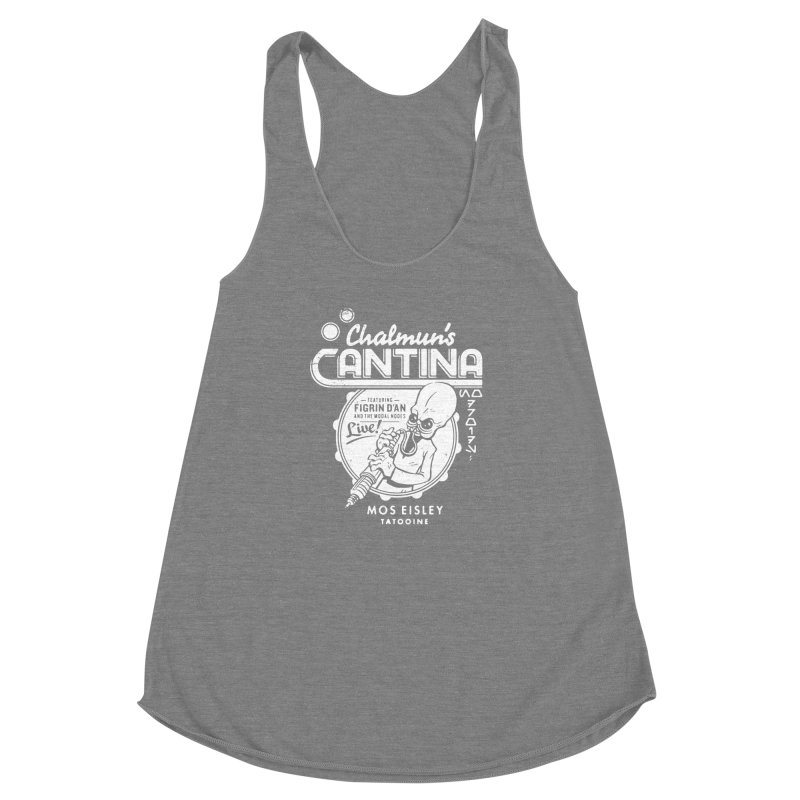 Chalmun's Cantina Women's Racerback Triblend Tank by Spencer Fruhling's Artist Shop
