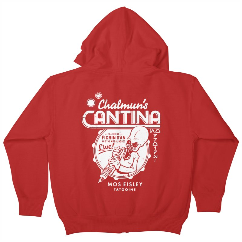 Chalmun's Cantina Kids Zip-Up Hoody by Spencer Fruhling's Artist Shop