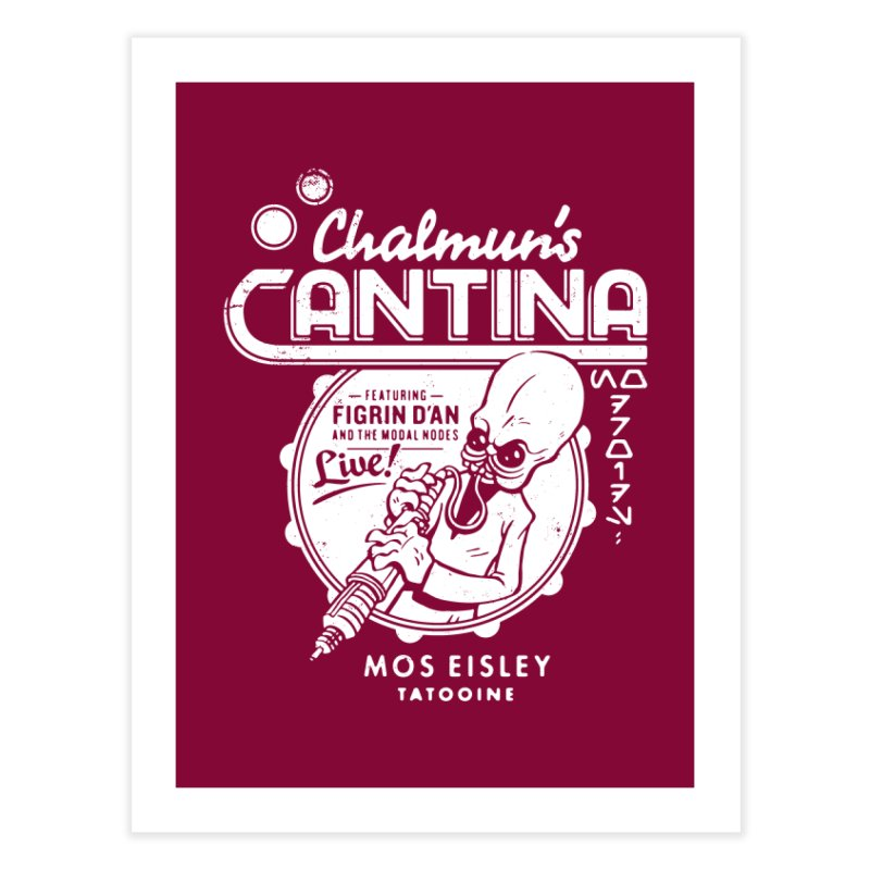 Chalmun's Cantina Home Fine Art Print by Spencer Fruhling's Artist Shop